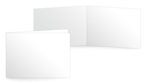 A6 quer gefalzt (148x105 mm)