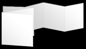 Quadratisch Zickzackfalz (150x150 mm)