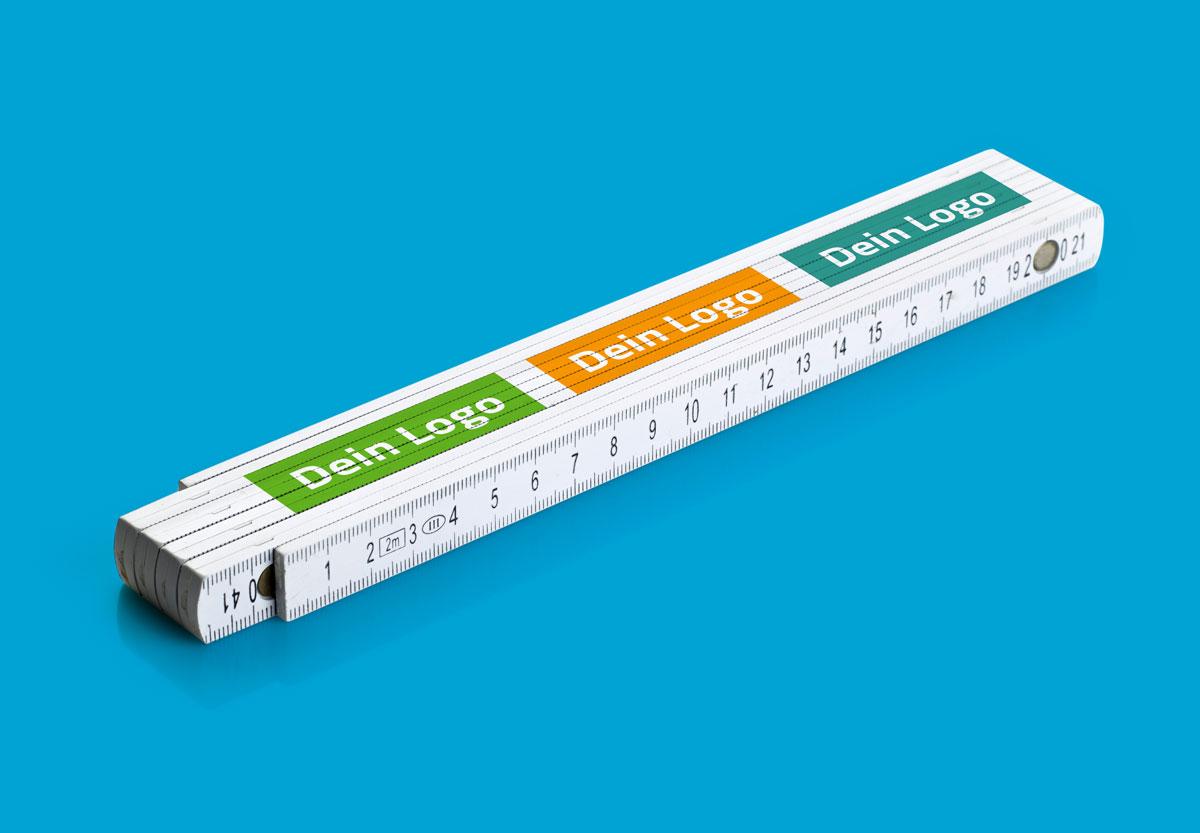 Meter bedrucken mit eigenem Logo
