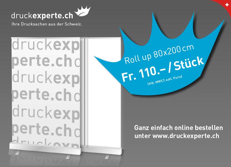 Roll up drucken günstig druckexperte.ch